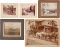 Photography:Studio Portraits, Five Nice Western Stage Coach Scenes.... (Total: 5 Items)