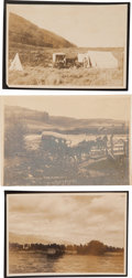 Photography:Cabinet Photos, Wyoming: Three Late 19th Albumen Photographs of the Wilds ofWyoming.... (Total: 3 Items)