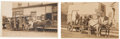 Photography:Official Photos, Real Photo Postcard: Two Horse Drawn Wagon Scenes.... (Total: 2 Items)