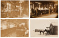 Photography:Official Photos, Saloons: Lot of Four Real Photo Postcards of Western Saloons and Restaurants.... (Total: 4 Items)