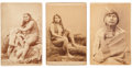 Photography:Cabinet Photos, Photograph: Three C.W. Carter's Photos of Utah Indians.... (Total:3 Items)