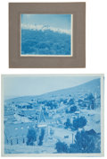 Photography:Studio Portraits, Lot of Two Cyanotypes of Western Nevada Scenes.... (Total: 2 Items)
