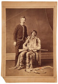 Photography:Cabinet Photos, Cabinet Card Photograph: Sitting Native American Indian withRifle.. ...