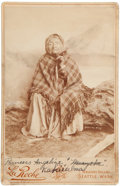 Photography:Cabinet Photos, Cabinet Card Photo: Princess Angeline Daughter of Chief SeattleKakiisilma...