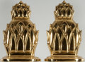 "Books:Prints & Leaves, [Bookends]. Pair of Matching Solid Brass Bookends. Each measures6.25"" tall x 4"" wide x 1.5"" deep. A few small blemishes. Ne...(Total: 2 Items)"