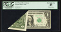 Error Notes:Foldovers, Fr. 1912-A $1 1981A Federal Reserve Note. PCGS Extremely Fine 45.....