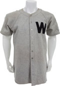 Baseball Collectibles:Uniforms, 1942 Early Wynn Game Worn Washington Senators Rookie Jersey, MEARSA10....