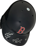 """Baseball Collectibles:Hats, David Ortiz """"Believe in the Red Sox Nation!"""" Signed Boston Red SoxHelmet...."""