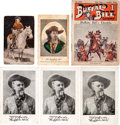 "Western Expansion:Cowboy, Seventeen Photographs and Printed Pieces featuring William F.""Buffalo Bill"" Cody and Performers in the Wild West.... (Total: 17Items)"