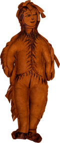 Western Expansion, Leather Souvenir Indian Doll Dated 1902....