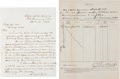 Western Expansion:Cowboy, Two Documents from Fort Cummings, New Mexico Territory.... (Total:2 Items)