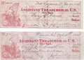Miscellaneous:Ephemera, Early Colorado Territory: Two 1864 Army Pay Drafts. ... (Total: 2Items)