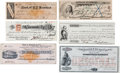 Western Expansion:Goldrush, Six Western Territories Checks.... (Total: 6 Items)