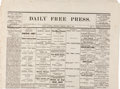 Miscellaneous:Newspaper, Jesse James: California Newspaper with Article on His Death....