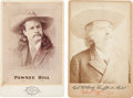 Photography:Cabinet Photos, Wild West Entrepreneurs: Cabinet Card Portraits of Wild West Showmen Buffalo Bill and Pawnee Bill.... (Total: 2 Items)