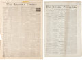 Miscellaneous:Newspaper, Two Early Arizona Newspapers.... (Total: 2 Items)