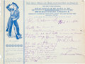 """Western Expansion:Cowboy, Mexican Billy: Wild West Show Sharpshooter """"Mexican Billy"""" (W. D.Ament) Autograph Letter to Colt Firearms, 1890...."""