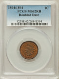 Indian Cents, 1894 1C Doubled Date MS62 Red and Brown PCGS. Snow-1, FS-301....