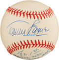 """Baseball Collectibles:Balls, Tommy Byrne """"The 1st Yankee Ever Traded Away and Later Repurchased"""" Single Signed Baseball...."""