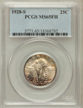 Standing Liberty Quarters: , 1928-S 25C MS65 Full Head PCGS. PCGS Population (124/114). NGCCensus: (115/166). Mintage: 2,644,000. Numismedia Wsl. Price...