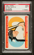 Baseball Cards:Singles (1960-1969), 1960 Topps Mickey Mantle All Star #563 PSA NM 7....
