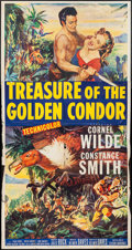 "Movie Posters:Adventure, Treasure of the Golden Condor & Others Lot (20th Century Fox,1953). Three Sheet (41"" X 79"") & One Sheets (2) (27"" X 41"").A... (Total: 3 Items)"