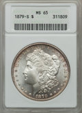 Morgan Dollars: , 1879-S $1 MS65 ANACS. NGC Census: (21312/9047). PCGS Population(22918/8188). Mintage: 9,110,000. Numismedia Wsl. Price for...
