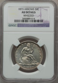 Seated Half Dollars: , 1873 50C Arrows -- Whizzed -- NGC Details. AU. NGC Census:(12/200). PCGS Population (31/176). Mintage: 1,815,700. Numismed...