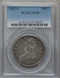 Bust Half Dollars: , 1822/1 50C VF30 PCGS. PCGS Population (14/95). NGC Census: (3/83).Numismedia Wsl. Price for problem free NGC/PCGS coin in...