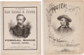 Entertainment Collectibles:Music, George Armstrong Custer: Fine 1876-Dated Memorial Sheet Music (Two). ... (Total: 2 Items)