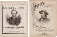 George Armstrong Custer: Fine 1876-Dated Memorial Sheet Music (Two)