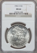 Morgan Dollars: , 1902-O $1 MS64 NGC. NGC Census: (27314/6889). PCGS Population(19870/4648). Mintage: 8,636,000. Numismedia Wsl. Price for p...