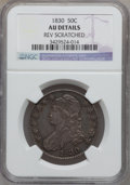 Bust Half Dollars: , 1830 50C Small 0 -- Reverse Scratched -- NGC Details. AU. NGCCensus: (104/1194). PCGS Population (142/898). Mintage: 4,764...