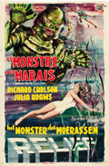 "Movie Posters:Horror, Creature from the Black Lagoon (Universal International, 1954).Belgian (14.5"" X 22"") 3-D Style.. ..."