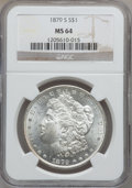 Morgan Dollars: , 1879-S $1 MS64 NGC. NGC Census: (36053/30310). PCGS Population(35734/31072). Mintage: 9,110,000. Numismedia Wsl. Price for...