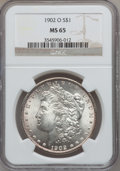 Morgan Dollars: , 1902-O $1 MS65 NGC. NGC Census: (6333/556). PCGS Population(4138/510). Mintage: 8,636,000. Numismedia Wsl. Price for probl...