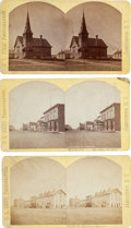 Photography:Stereo Cards, .Jamestown, Dakota Territory: Three Early Stereoviews by C.L. Judd, Photographer. ... (Total: 3 Items)