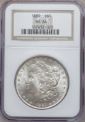 Morgan Dollars: , 1889 $1 MS64 NGC. NGC Census: (14072/2176). PCGS Population(9604/1917). Mintage: 21,726,812. Numismedia Wsl. Price for pro...