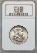 Franklin Half Dollars: , 1949-S 50C MS65 Full Bell Lines NGC. NGC Census: (111/22). PCGSPopulation (503/149). Numismedia Wsl. Price for problem fr...