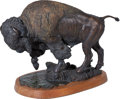 "Western Expansion, Douglas van Howd: Limited Edition ""Prairie Spring"" Bronze BisonSculpture, #1 of 50. ..."