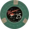 Miscellaneous:Gaming Chips, Flamingo $25 Las Vegas Casino Chip, 5th Issue, R-9. ...