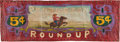 Western Expansion, Pendleton Roundup: A Hand-Painted Banner from the Venerable Event....