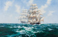 Maritime:Paintings, BARRY MASON (British, b. 1947). Blowing Along in the TradeWinds. Oil on canvas. 42 x 62 inches (106.7 x 157.5 cm).Sign...