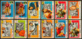 Football Cards:Sets, 1955 Topps All American Football Partial Set (77/100) Plus Extras. ...