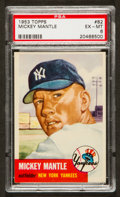 Baseball Cards:Singles (1950-1959), 1953 Topps Mickey Mantle SP #82 PSA EX-MT 6....