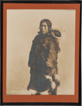 Photography:Studio Portraits, Eskimo Mother and Child: A Superb Silver Gelatin Photo by F. H. Nowell. ...