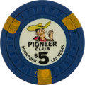 Miscellaneous:Gaming Chips, Pioneer $5 Las Vegas Casino Chip, 7th Issue, R-9....