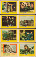 "Movie Posters:War, Attack! (United Artists, 1956). Lobby Card Set of 8 (11"" X 14"").War.. ... (Total: 8 Items)"