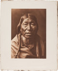 "Photography:Official Photos, Edward S. Curtis, Photographer: ""Cheyenne Type"" Vintage Portfolio Photogravure from The North American Indian...."