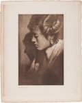 """Photography:Official Photos, Edward S. Curtis, Photographer: """"The Hopi Maiden"""" Vintage Portfolio Photogravure from The North American Indian..."""
